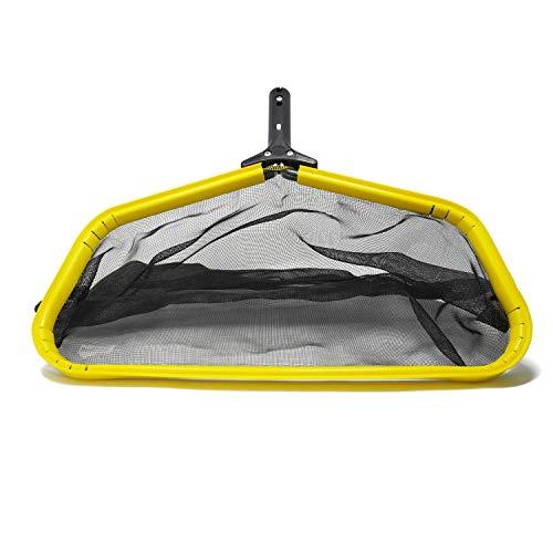 Pool Skimmer Net, Leaf Rake Catcher, Water Cleaner with Reinforced Deep Mesh Skim Bag Cleaning Tool