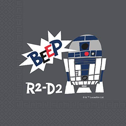 Procos 89906 - Servietten, Star Wars Paper Cut, 33x33cm 20 Stück, R2-D2, Premium, Geburtstag, Mottoparty
