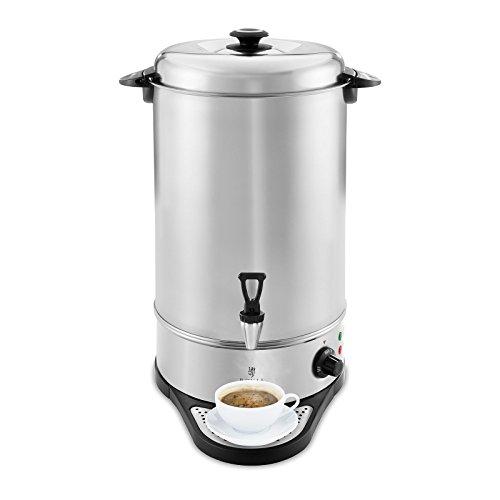 Royal Catering RCWK 16A Wasserkocher Abtropfschale 16 l 17,5 l 2.200 W Edelstahl 100 °C Teekocher Ablasshahn
