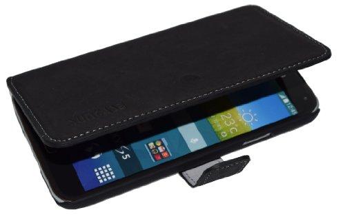 Book-Style Ledertasche Tasche für Samsung Galaxy S5 Neo (SM-G903F) Neo (SM-G903F) *ECHT LEDER* Handytasche Case Etui Hülle (Original Suncase) in antik - schwarz