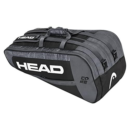 Head Core 9r Supercombi Bolsa de Tenis, Negro y Blanco, 9 Racquets