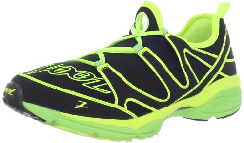 Zoot Men's Ultra Kalani 3.0 Running Shoe,Black/Safety Yellow/Green Flash,10 M US