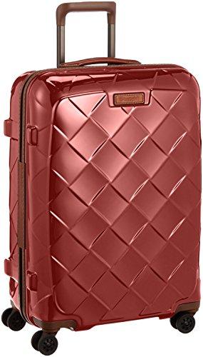 [ストラティック] スーツケース ジッパー レザー&モア グッドデザイン賞 静音双輪キャスター 保証付 65L 66 cm 3.43kg カーマインレッド