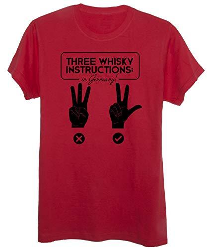 New Indastria T-Shirt Bastardi Senza Gloria Fan Art Inglourious Basterds Tre Bicchieri - Cult - Uomo-M-Rossa