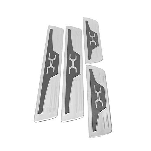 aqxreight - 4Pcs Stainless Car Door Sill Scuff Plate Kick Pedal Protectors Fits for Harrier Venza XU80 2020 2021