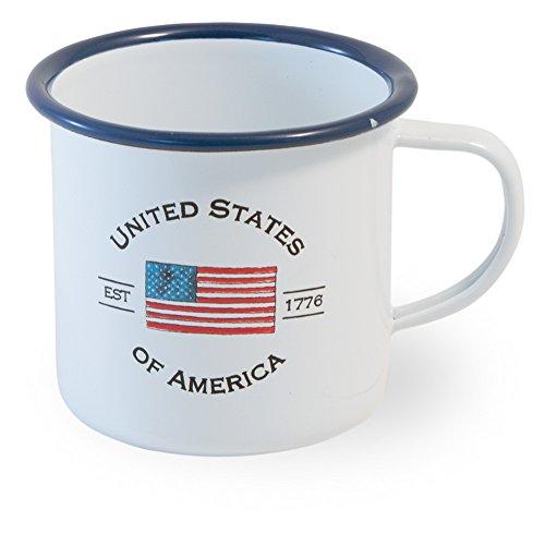 Boston International Enamelware Small Mug, USA Flag
