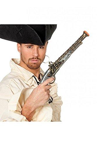 shoperama Pistola antigua para disfraz de pirata del Caribe