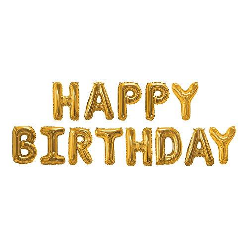 Neviti 774137 HAPPYBIRTHDAY Globos de lámina, oro rosa