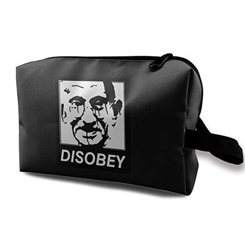 Hdadwy Disobey Gandhi Practical Cosmetic Bag Travel Storage Makeup Bag