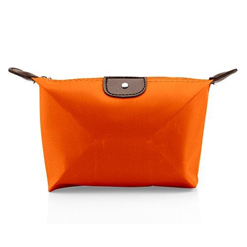 GEARONIC TM Pouch Cosmetics Case Makeup bag Multifunction Travel Accessory Organizer- Orange