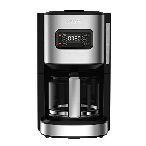 Krups Excellence - Macchina da caffè elettrica in acciaio inox, 1,25 l, programmabile, 24 h, selettore potenza di infusione, funzione 1/4 tazze auto-off dopo 30 minuti, antigoccia KM480D10
