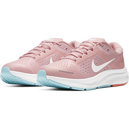 Nike W Air Zoom Structure 23, Zapatillas para Correr Mujer, Pink Glaze White Ocean Cube Crimson Bliss, 42 EU