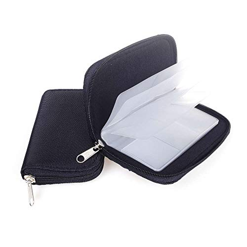 ANGEEK 2pcs 22 Slots Waterproof Memory Card Storage Bag 18SD+ 4CF Card Case Bag ID Holder SD Micro Card Camera Phone Card Protector Pouch (Black)