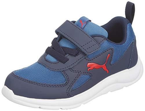 PUMA Fun Racer AC PS, Sneaker Unisex-Bambini, Blu(Bright Cobalt/High Risk Red), 34 EU