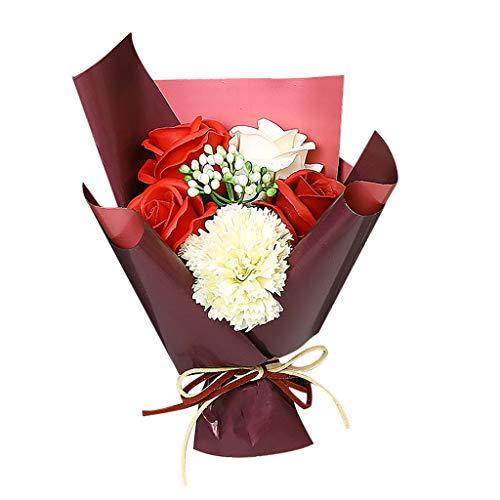 Zegeey KüNstliche Rose Blumen Seifen Werbegeschenk Lippenstift Geschenkbox Wedding Dekorations Heimdekoration Mit Geschenk Kasten Geschenk FüR Valentinstag Muttertag Geburtstag Jahrestag Hochzeit