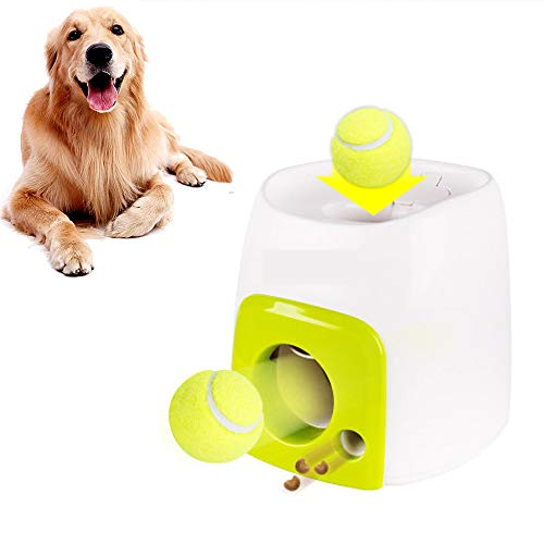 Juguetes para Mascotas,Juguete Interactivo AutomáTico Bola Lanzador De Perro, La Pelota De Tenis Lanzar La MáQuina para El Entrenamiento del Perro