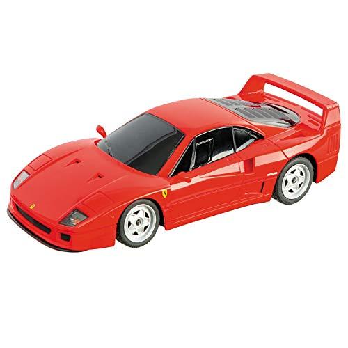 Mondo Motors – Coche teledirigido Ferrari R/C – Modelo F40 en Escala 1/24 – Coche de Juegos para niños – Rojo – 63581