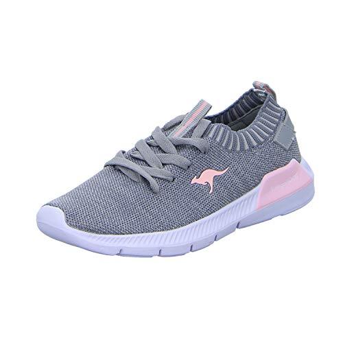 KangaROOS Unisex-Kinder K-Sock III Sneaker, Grau (Vapor Grey/English Rose 2043), 30 EU