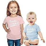 Sorella Maggiore e fratellino. Set per Neonati e Neonate Idea Regalo per Nascita Bimba Rosa 6-8 Anni (118/128cm) / Neonato Celeste 0-3 Mesi