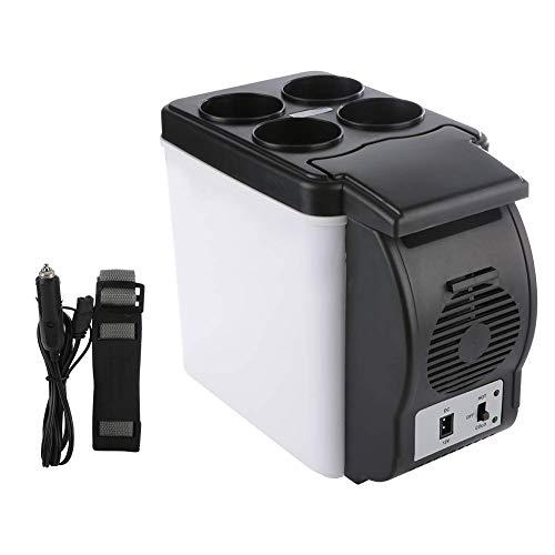 Junlucki Mini-Kühlschrank, 6L 12V Autokühlschrank Tragbarer Kühlschrank Kompakter Kühlschrank Tragbarer Gefrierschrank Winziger Kühlschrank Kühler/Wärmer für PKW LKW Wohnheim