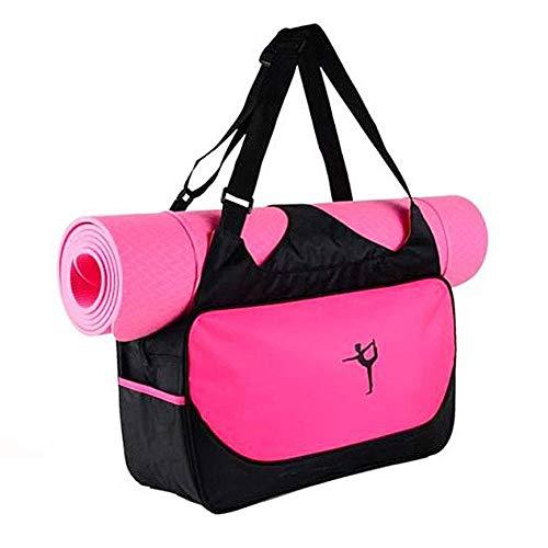 Drawihi - Borsa di alta qualità, taglia extra grande, da yoga e ginnastica, colore: rosa, rossa