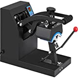 VEVOR Heat Press 6x3.75Inch Curved Element Hat Press Clamshell Design Heat Press for Hats Rigid Steel Frame No Stick Digital LCD Timer and Temperature Control (6x3.75Inch Clamshell Design)