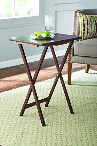 Mainstay (2-Pack Folding TV Tray Table Set in Walnut