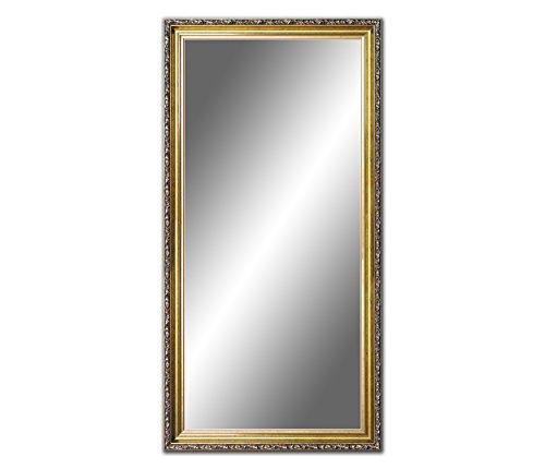 100 x 70cm, 70 x 100cm Spiegel mit Rahmen, Badezimmerspiegel Antik, Alte Spiegel, Handgefertigte, Stabiler Rückwand, Rahmenleiste: 60 mm breit und 45 mm hoch, Rahmen Farbe: Gold