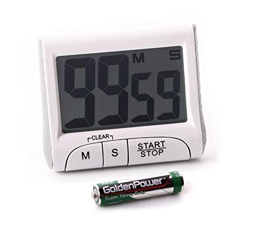 edi-tronic Eieruhr - Timer mit Countdown mit Magnethalterung Fuß Count-Up Stoppuhr großes Display
