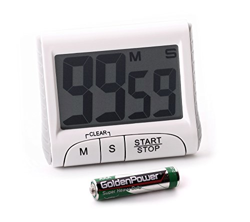 Eieruhr - Timer mit Countdown mit Magnethalterung Fuß Count-Up Stoppuhr großes Display