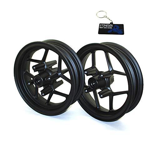 STONEDER Juego de llantas delanteras de 25,4 cm y traseras de 2,50 cm para SDG Wheel Pit Bike Motard Supermoto