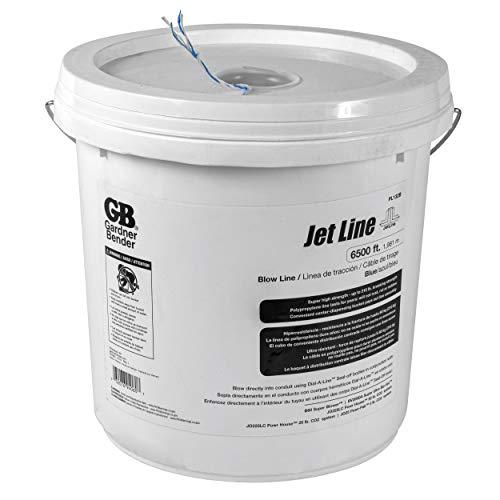 Gardner Bender PL132B Blow, 210 lb Tensile Strength, Polypropylene, 6500 Ft/Bucket Pull line, Blue and White