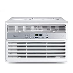 Midea MAW10R1BWT Window Conditioner 10000 BTU Easycool AC (Cooling, Dehumidifier and Fan Functions) for Rooms up to 450 Sq, ft. with Remote Control & Fresh Air Vent Control, White