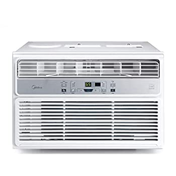 MIDEA 10,000 BTU EasyCool Window Air Conditioner Fan-Cools Circulates and Dehumidifies Up to 450 Square Feet Has A Reusable Filter and Includes an LCD Remote Control 10000 White