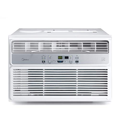 MIDEA MAW10R1BWT Window Air Conditioner 10000 BTU Easycool AC (Cooling, Dehumidifier and Fan Functions) for Rooms up to 450 Sq, ft. with Remote Control, 10,000, White