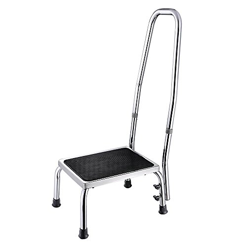 AW Medical Step Footstool W/Handle & Non Skid Rubber Platform 500lbs...
