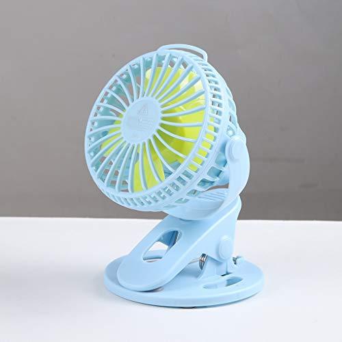 YUXIwang Mini ventilador USB portátil USB Ventilador de mesa tipo clip recargable Mini ventilador de escritorio de 360 grados rotación 3 velocidades ventilador ajustable con clip (color 03)