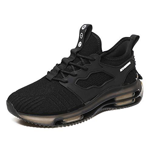 Magnifier Zapatillas de Deporte para Hombre Moda Zapatillas Deportivas Ligeras y Transpirables Tenis Zapatos Casuales para Caminar,Negro,43