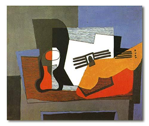 Cuadro Decoratt: Naturaleza muerta con guitarra - Pablo Picasso 43x35cm. Cuadro de impresión directa.