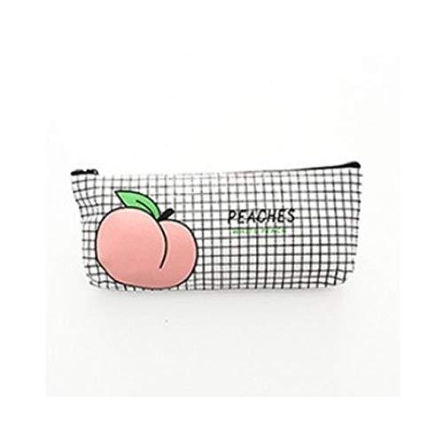 Nette Pfirsich-Karton-Box-Leinwand-Papier mit Damen Briefpapier-Leinwand-Bleistift-Tasche