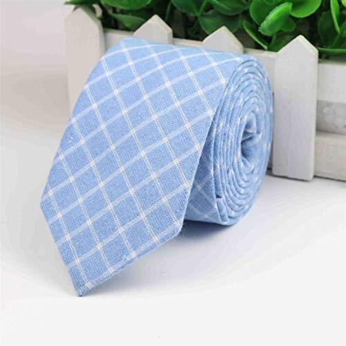 Corbata de moda clásica para hombre, a cuadros, casual, a cuadros, corbata de algodón, delgada, corbata colorida para hombres (color: J)
