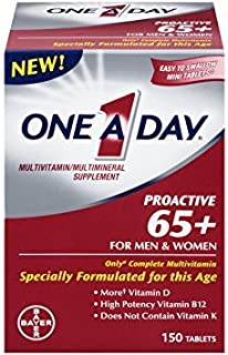 One A Day Proactive 65 Plus Multivitamins, 150 Count - Pack of 4