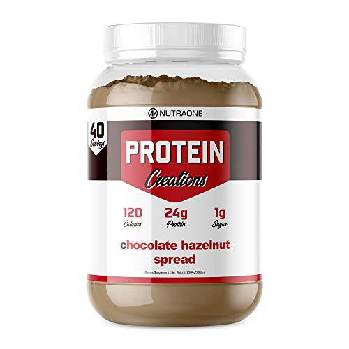 Protein Creations Protein Powder Blend by NutraOne – Indulgently Flavored (Chocolate Hazelnut Spread – 3.05 lbs.)