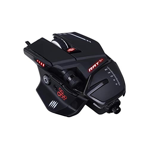 Mad Catz R.A.T. 6+ Gaming Mouse (USB/Black/12000dpi/11 Buttons) - MMR04DCINBL000-0