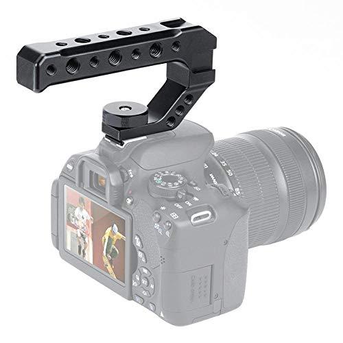 HAFOKO R005 Camera Top Griff Griff Hot Shoe Top K?sehalterung Universal Video Stabilizing Rig mit 3 Kaltschuh 1/4