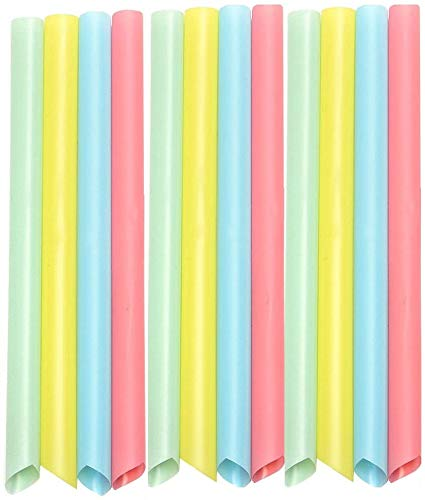 Gekai 100 große Strohhalme gemischte Farben Smoothie Trinkhalme Bubble Tea Smoothie Milchshake 10 mm x 210 mm