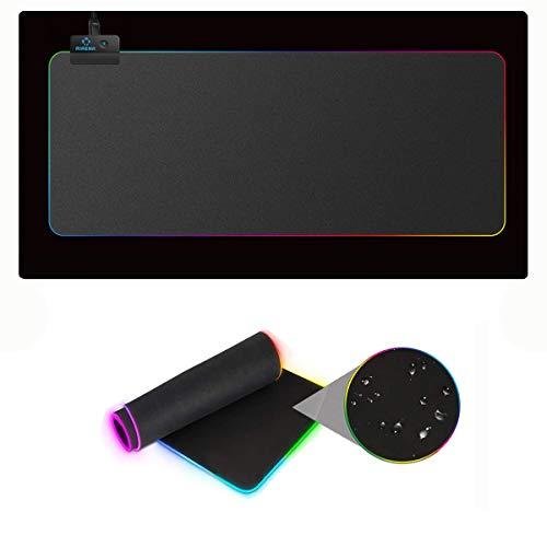 AIRENA Tapis de Souris de Jeu RVB Mousepad avec 13 Modes d'éclairage, Tapis de Jeu Plus Grand 800 x 300 mm pour Clavier/Souris/Ordinateur/PC