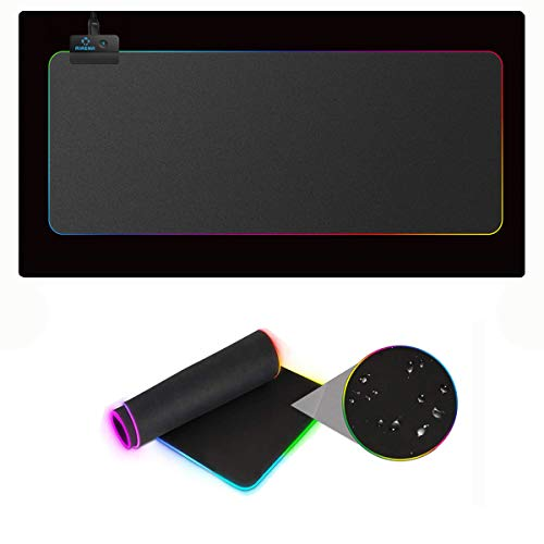 RGB Gaming Mauspad, AIRENA LED Illuminated Maus pad mit 13 Illuminated Modi, 800 x 300 mm Large Maus Matte für Gaming Tastatur/Maus/Computer/PC