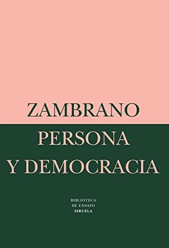 Persona y democracia: La historia sacrificial: 2 (Biblioteca