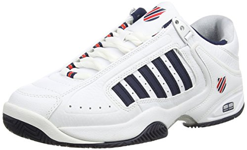 K-Swiss Performance Defier Rs, Herren Tennisschuhe, Weiß (White/Dressblue/Fieryred 164), 43 EU (9 UK)